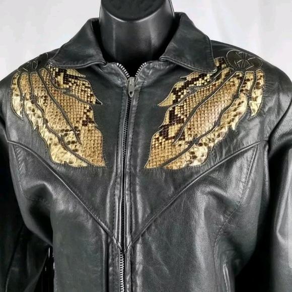 3a6ce8d8c39 Gypsy Leather Jackets   Blazers - Gypsy Leather Motorcycle Jacket Size 20